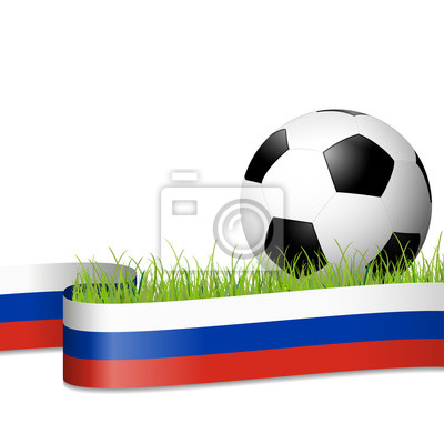 piłka nożna za rosyjskim sztandarem