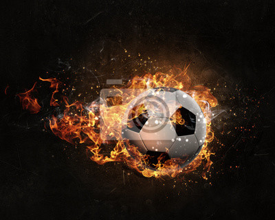 Piłka płonie w ogniu