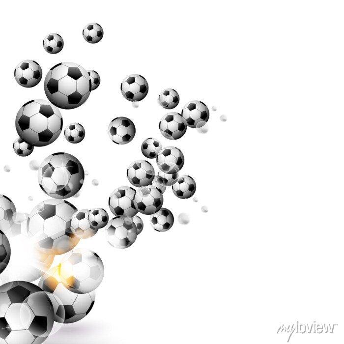 Naklejka Piłka samodzielnie na białym tle