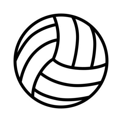 Naklejka Piłka Siatkówka sztuka ikony dla aplikacji i witryn sportowych