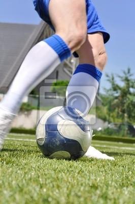 Piłka strzelanie player Soccer