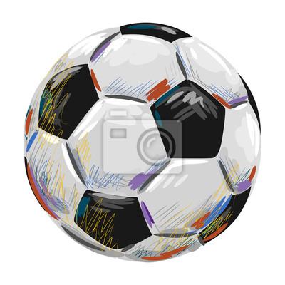 Piłka Stworzony przez profesjonalnego artysty. Ta ilustracja jest tworzony przez tabletu Wacom za pomocą grunge tekstury i pędzli malarskich elementów style.all w przechowywane są w oddzielnych warstw