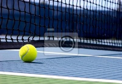 Naklejka Piłka tenisowa na korcie