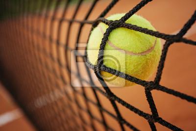 Naklejka Piłka tenisowa w sieci