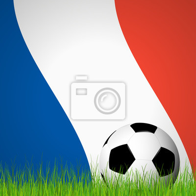 piłka z przodu Flaga Francji