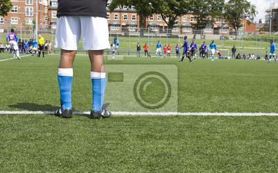 Piłkarskie nogi gracza
