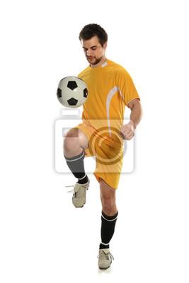 Piłkarz Bouncing Ball na kolana