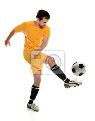 Piłkarz Kicking Ball