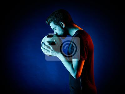 Piłkarz Man izolowane