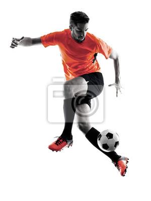 Piłkarz Man Pojedyncze sylwetka
