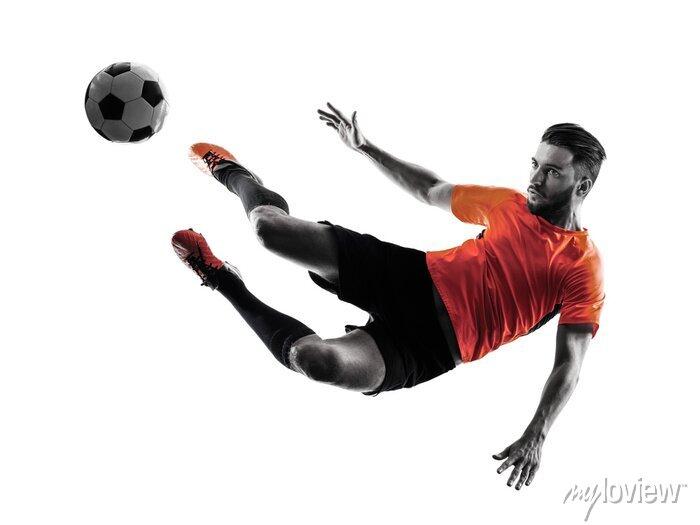 Naklejka Piłkarz Man Pojedyncze sylwetka