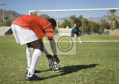 Piłkarz Przygotowanie rzutu wolnego