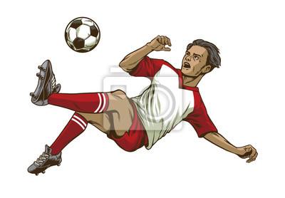 piłkarz robi rzut głową