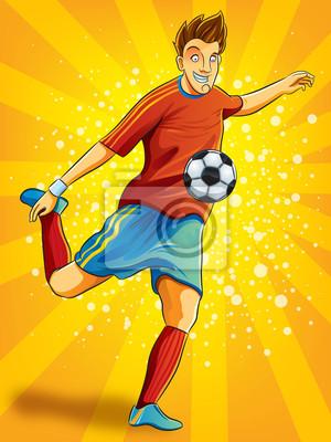 Piłkarz rzucie kulą (EPS 10 wersja pliku)