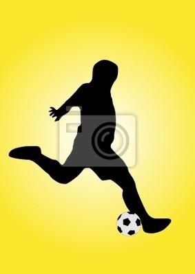 piłkarz strzelając piłkę
