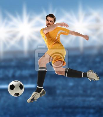 Piłkarz w akcji