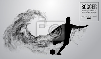 Piłkarz z systemem skoki z piłką. Wektor