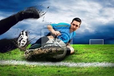 Piłkarze na polu