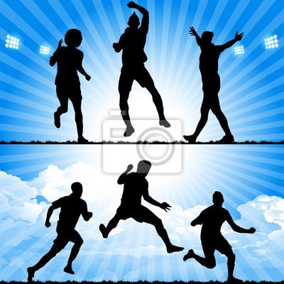 piłkarze świętują