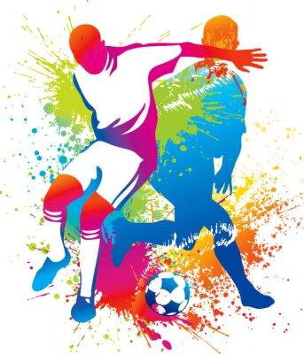 Piłkarze z piłką nożną