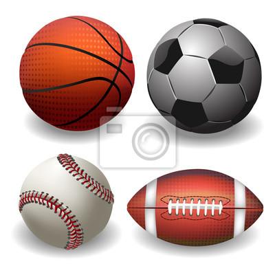 Piłki sportowe. wyizolowanych na Whire