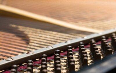 pin strojenie, dno paino, czekając na naprawy fortepian technika, aby naprawić, selektywne focus