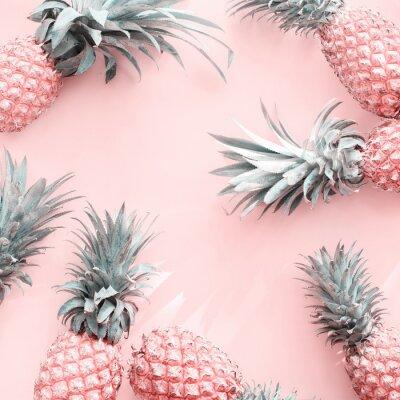 Naklejka Pine Apple Tropical Fruit Pink Natural Organic