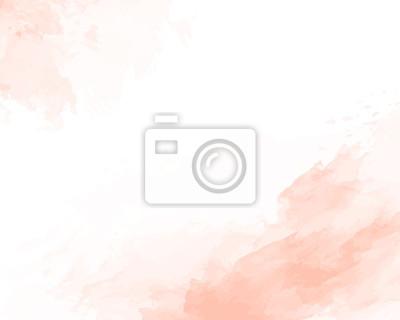 Naklejka Pink soft watercolor abstract texture. Vector illustration.