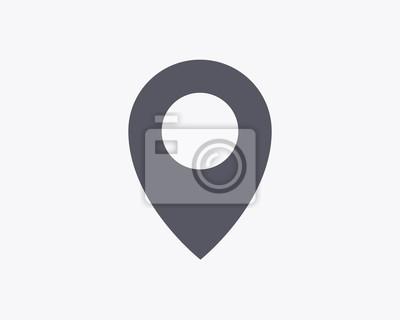 Pinpoint Ikona - Ilustracja wektora
