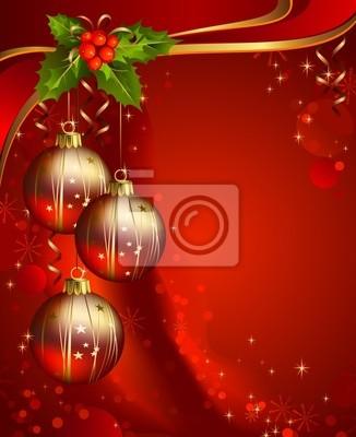 Pionowe czerwone tło Boże Narodzenie