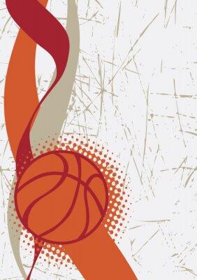 Naklejka Pionowe tła koszykówki poster.Abstract
