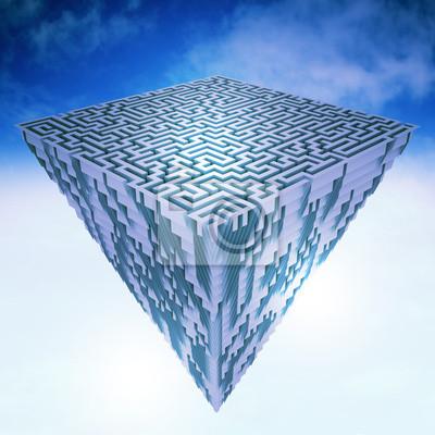 piramidalnej sztukę latania gruntów jako struktury labiryntu