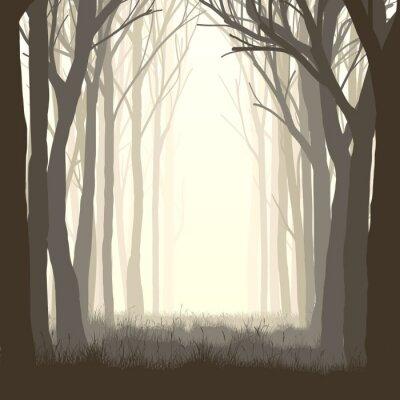 Naklejka Plac ilustracji polanie w lesie.