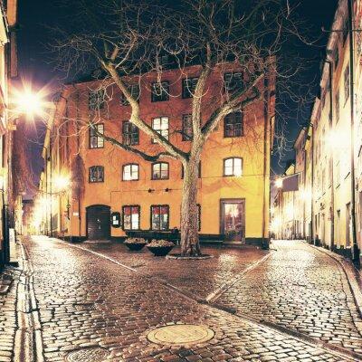 Naklejka Placyku gdzieś w Gamla Stan, Sztokholm.