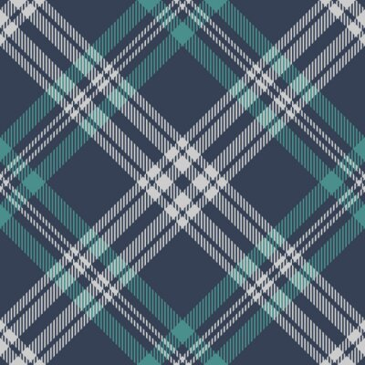 Naklejka Plaid pattern seamless in teal green, blue, grey. Textured spring summer tartan check graphic texture for flannel shirt, blanket, throw, other modern menswear and womenswear fashion textile design.