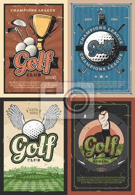 Naklejka Plakaty Liga mistrzów klubów golfowych