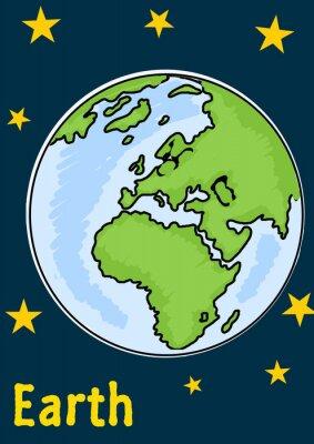 Naklejka Planeta Ziemia
