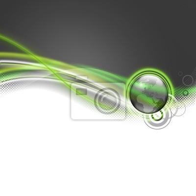 Planète Carré lubiący vert