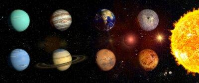 Naklejka Planety naszego układu słonecznego