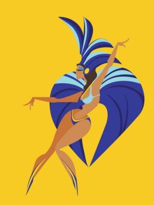 Naklejka płaska konstrukcja geometryczna królowej tańca samby