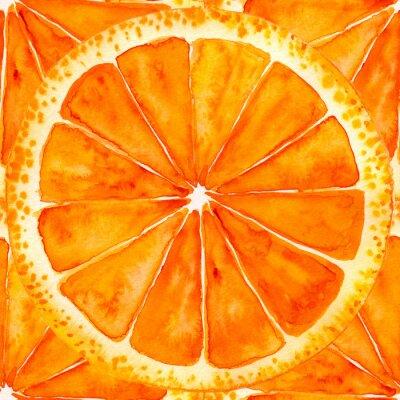 Naklejka plasterkach pomarańczowy lub grejpfrutowy