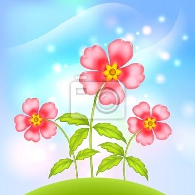 Plastikowe fantastyczne kwiaty wektor