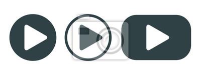 Naklejka Player Button set icon sign – vector