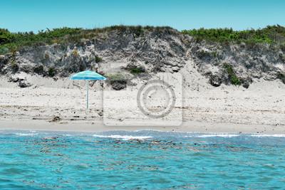 Plaża widziana z morza
