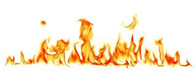 Naklejka Płomienie ognia wyizolowanych na białym tle