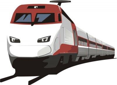 Naklejka pociąg pasażerski