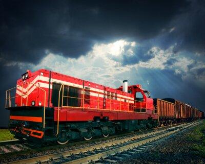 Naklejka pociąg towarowy