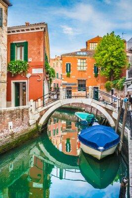 Naklejka Pocztówka widok Wenecji