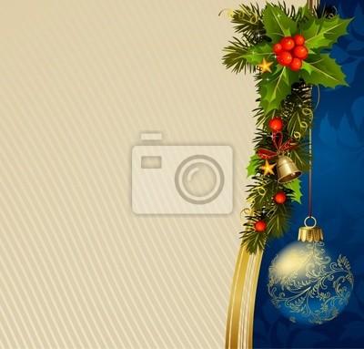 Pocztówki świąteczne z gałęzi evergreen