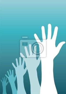 podniesionymi rękami